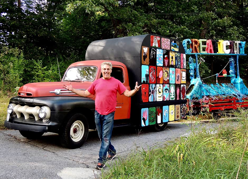 Jerry Beck with his art truck