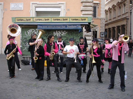 Pink Puffers Brass Band